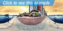 Example of panorama applied to architecture